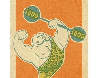 Circus Strong Man, 8.5x11 print