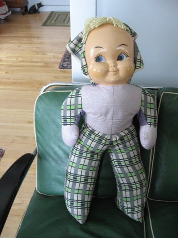 SALE 1950s Big Baby Doll with Vinyl Face and Soft Body