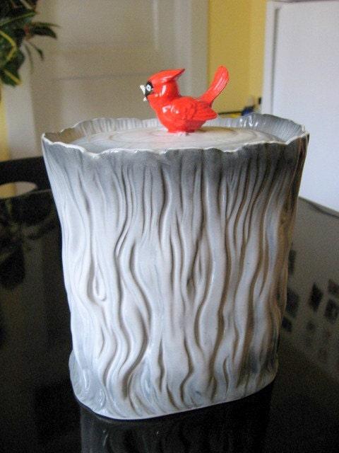 1950s Bambi Deer Woodland Cookie Jar Made In Japan