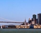 Bay Bridge Skyline, 12x36 Photographic Print