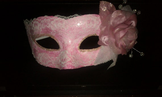 Pink Rose & Lace Mask