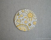 Hand Painted Sun and Stars Coaster
