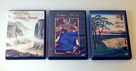 Japanese, Chinese, Indian Mood DVDs -- Art  and Music for that Special Exotic Mood