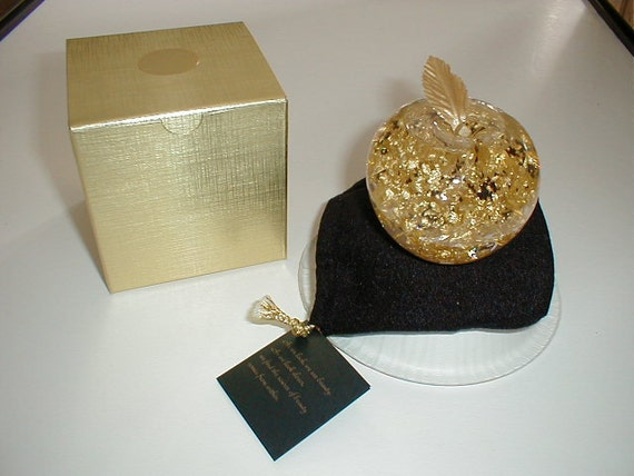 23k Gold Filled Apple Snow Globe