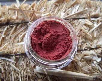 Red Hot Heels Bright Red Eyeshadow Organic Vegan