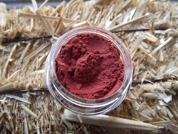 Red Hot Heels Bright Red Eyeshadow Organic Vegan