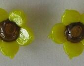 Flower Glass Earrings