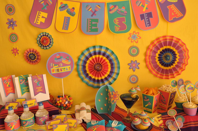 Mexican Fiesta 5 De Mayo Party Personalized Pdf Printable