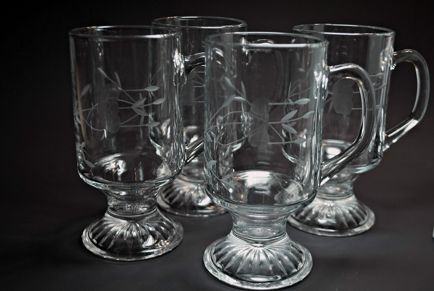 Princess house etched crystal irish coffee by harmonycollectibles