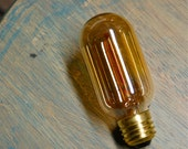 4 Pack: Radio Style Light Bulbs, Smoked Amber Vintage Bulb Reproduction, Edison Filament - 30 Watts, Squirrel Cage Filament