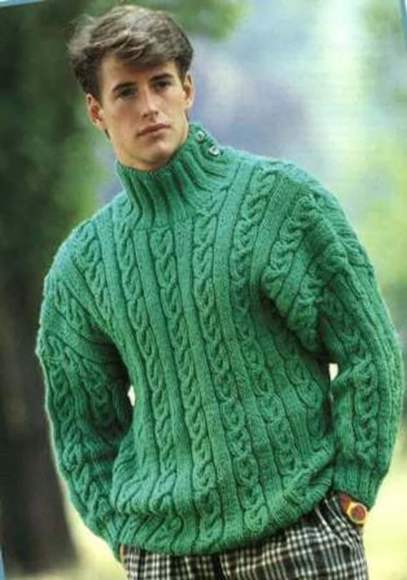 Mens Jumper Knitting Pattern : 1980s Mens Knitted Jumper Pattern PDF No.0623 From by TimelessOne