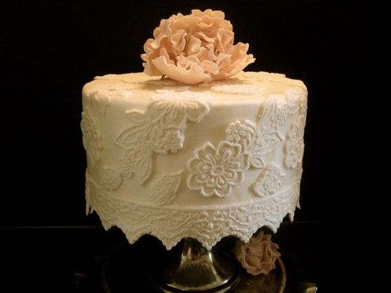 Items similar to Elegant Fondant Lace Cake Decorating Kit ...