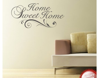 Home sweet home vinyl wall decal sticker