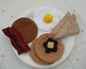 Felt Food - 9 piece Breakfast Platter  with Waffles Felt Play Food Set