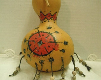 painted crookneck gourd