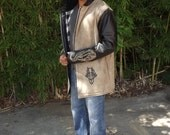 leather dragon hooded jacket