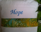 Insprirational Pillow - Hope Decorative Throw Pillow