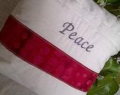 Inspirational Pillow- Peace Decorative Throw Pillow