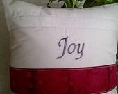 Inspirational Pillow- Joy Decorative Throw Pillow