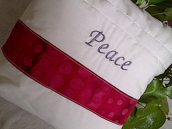 Inspirational Pillow- Peace Decorative Throw Pillow