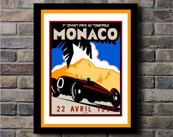 Monaco Grand Prix Digital Print - 11x14