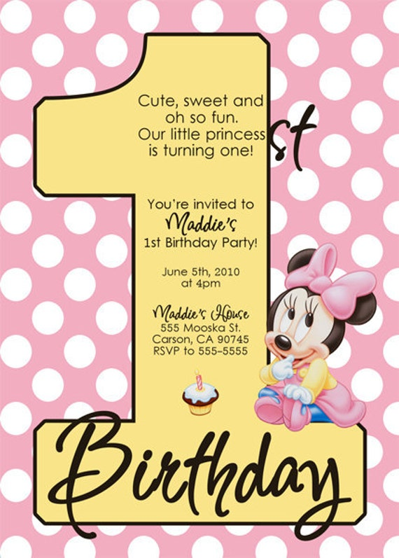 Minnie Mouse Babyshower Invitations as nice invitation template
