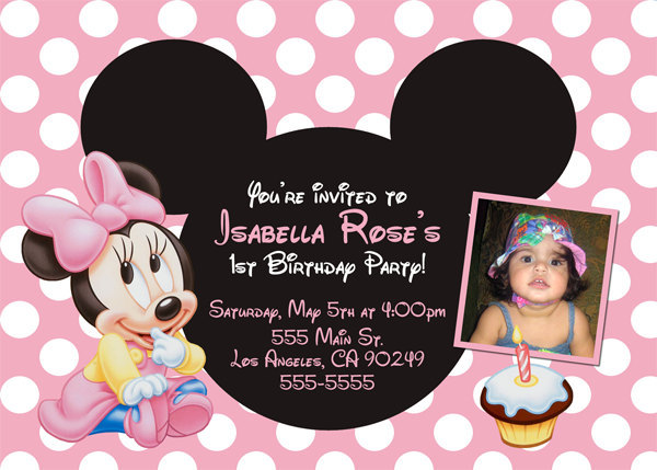 il_fullxfull.334574068 Customized Minnie Mouse Baby Shower Invitations