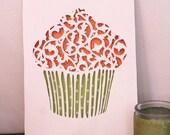 Cupcake Design Cut Paper Wall Art