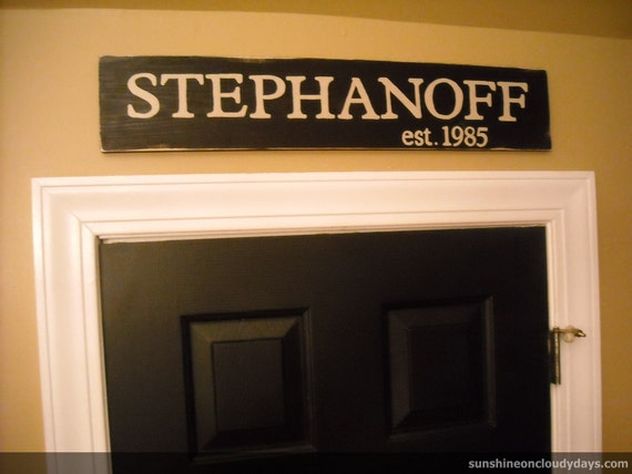 Wedding, Anniversary, New Home: Custom Personalized Family Name Sign
