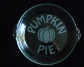 Pumpkin Pie Sandblasted Pie Plate