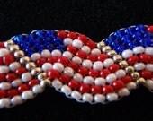 Pride in America Beaded Flag Bracelet