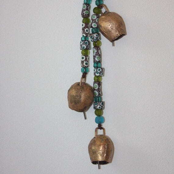 String of Bells with Beads - Earth Water Sky