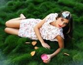 SALE  - 50% DISCOUNT -Floral Mini Summer Dress - Short Cotton Sun Dress