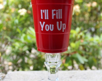 Wine Glass Red Solo Cup Etsy