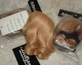 Vintage Human Hair Honey Blonde Doll Wig - Sz. 7/8 -  Long curl, center part