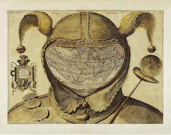 Antique world maps, Old World Map illustration Digital Image, ancient maps, monde fou, mad world, 04