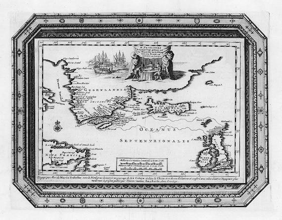Oceanus, passage chine, Antique world maps, Old World Map illustration Digital Image, ancient maps, 51