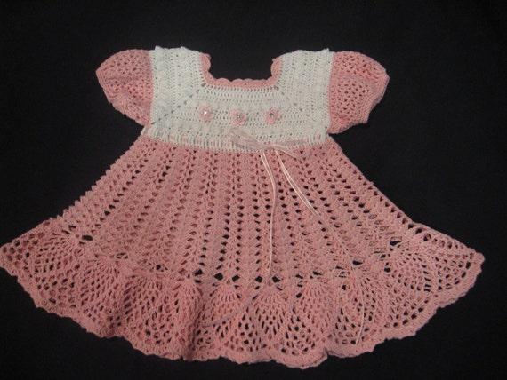 Dress for Baby Girl, Crochet Pattern PDF 12-007 INSTANT DOWNLOAD