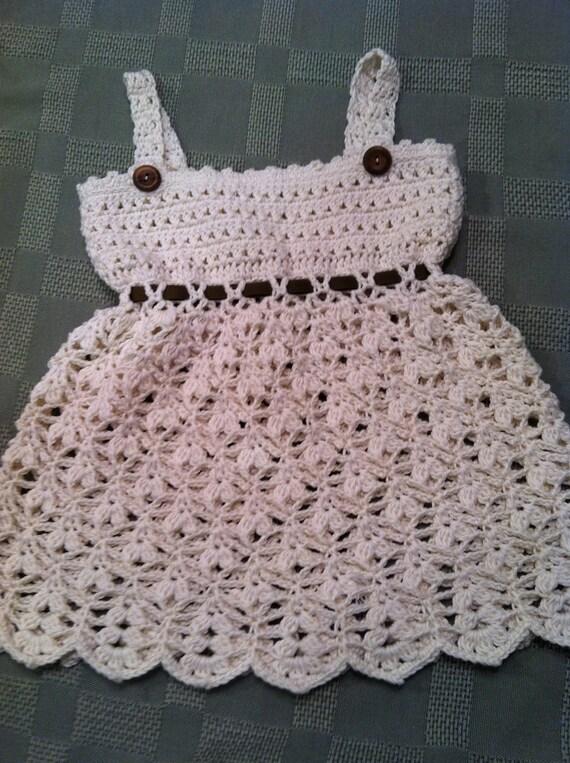 Sundress for Baby Girl, Crochet Pattern PDF 12-027 INSTANT DOWNLOAD