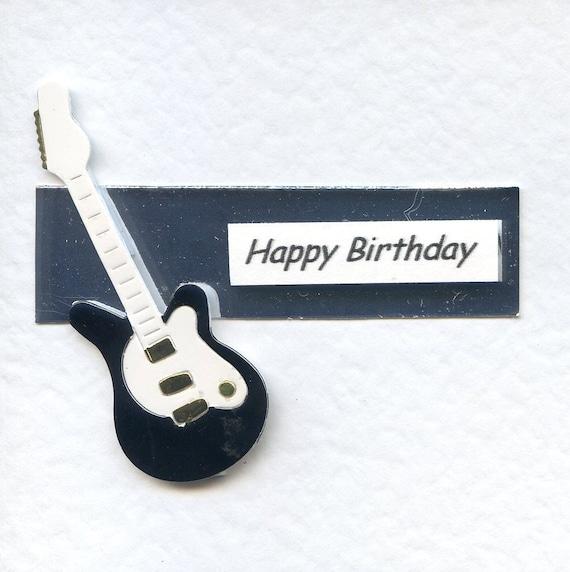 Electric Guitar Birthday Card