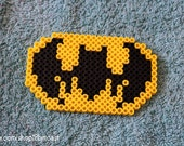 Batman Logo - Perler Beads - keychain, magnet, or necklace