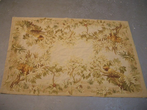 1980s Vintage Needlepoint Rug or Wall Hanging