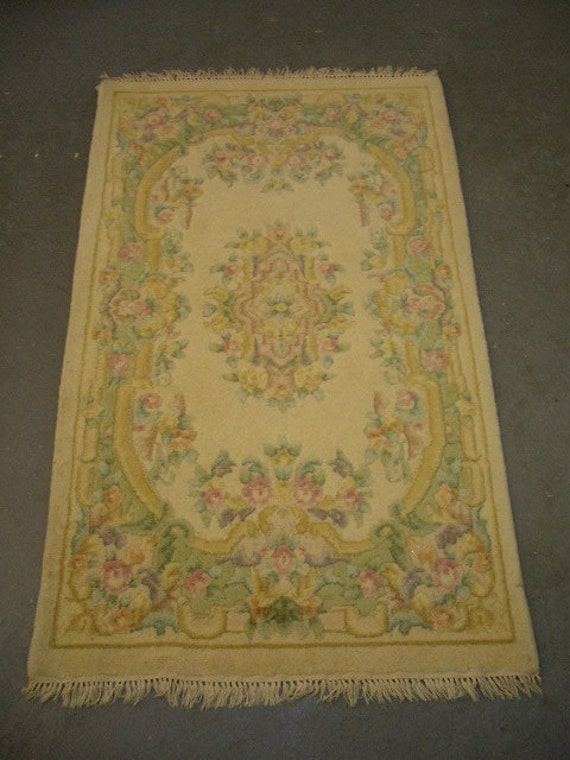 1970s Vintage, French-Style, Sculpture Aubusson Rug