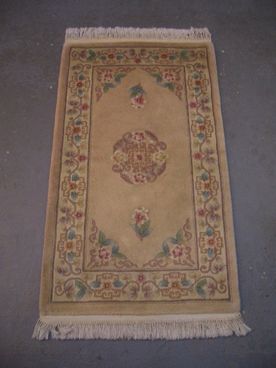 "20% OFF SALE! - 1980s Vintage, 90-line, 5/8"", Sculpture Chinese Rug"