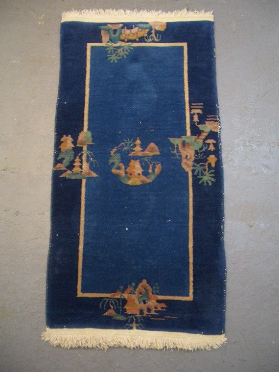 1940s Semi-Antique Hand-Knotted Mingsung Chinese Rug