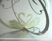 Swans , Decorative 3D Gift - Romantic Swans / Swans Gift / Romantic Gift / Swans Decorations / Home Decor / Office Decorations / Ornament