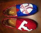 TOMS, Texas Rangers, Women's Shoes, personalized shoes