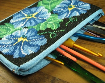 Blue Pansy Pouch