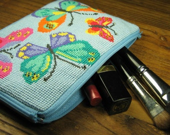 Blue Butterfly Pouch