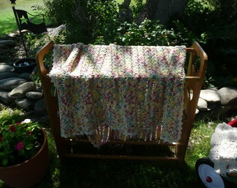 Corn Cobb Crocheted Afghan